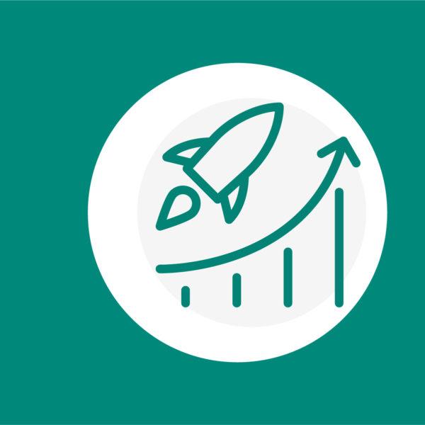 Icon einer Rakete, die steigt